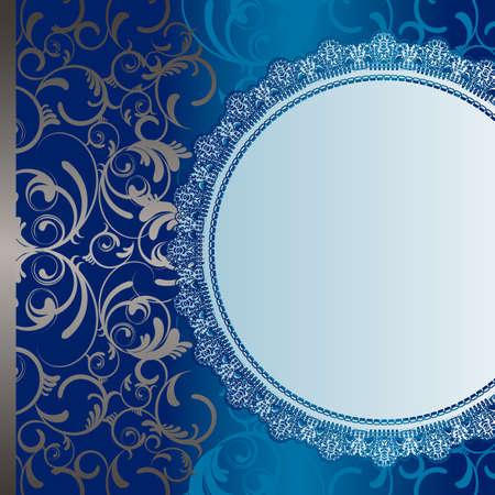 抽象的な背景が青