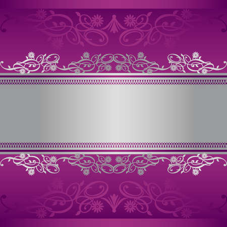 grace: silver and purple background
