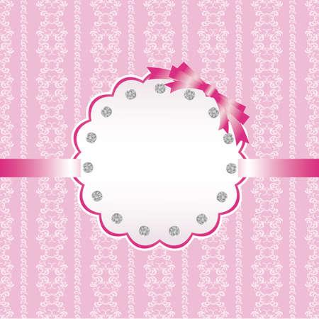 추상적 인 배경과 보석 카드 핑크