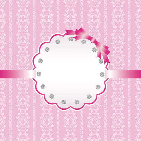 abstract background and jewelry card pink Vector