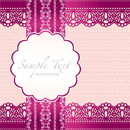 greeting card invitation wallpaper: lace background card