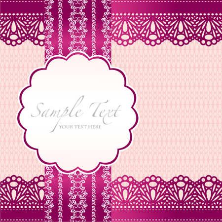 wedding card design: lace background card