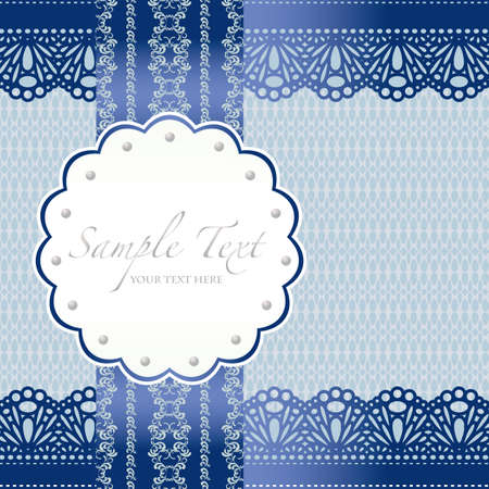 lace background card Stock Vector - 12054990