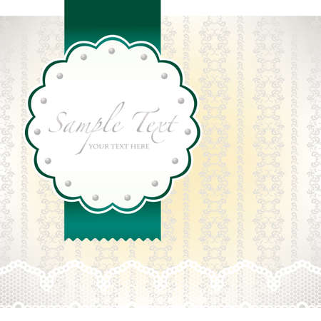 lace background card Vector