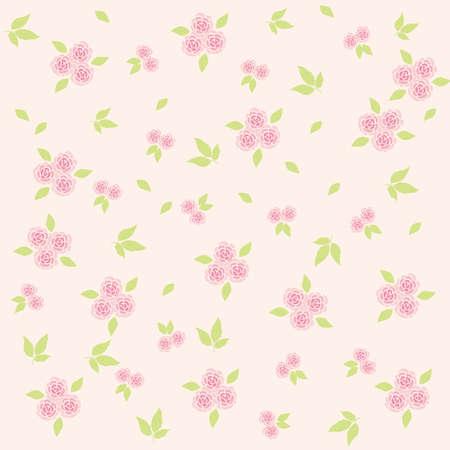 antiek behang: bloem achtergrond zacht roze