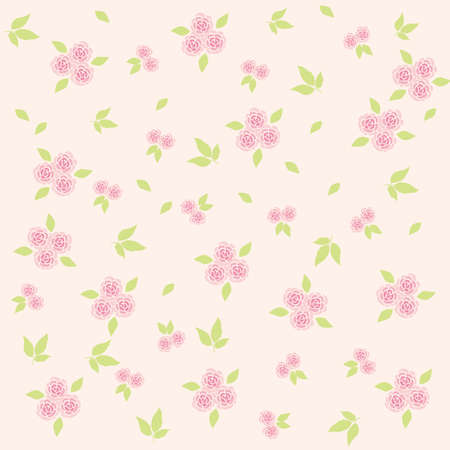 flower background soft pink Vector