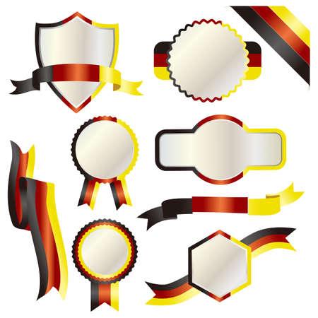 set of germany  イラスト・ベクター素材