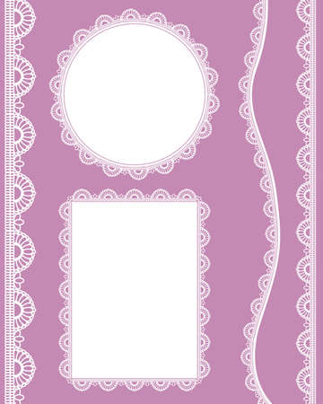 lace variation set Vector