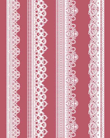 straight lace  イラスト・ベクター素材
