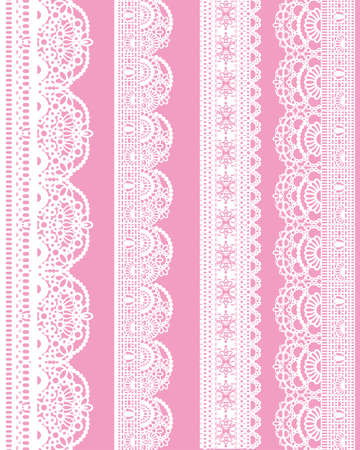 retro lace: straight lace Illustration
