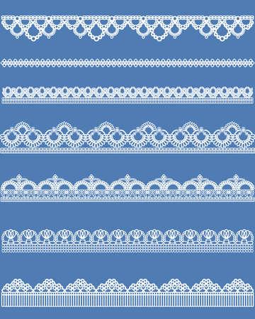 straight lace set  イラスト・ベクター素材