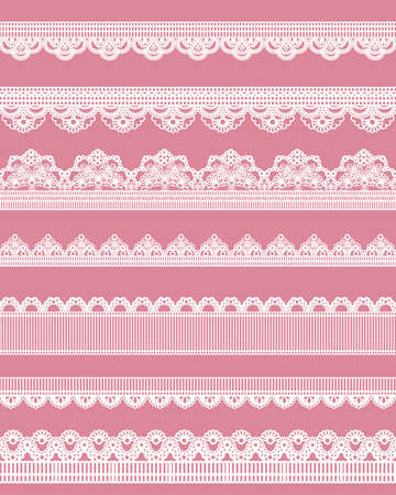 cute straight lace Vector