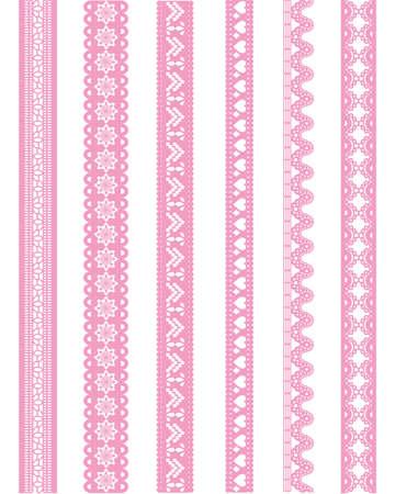 ストレート ピンクのレース