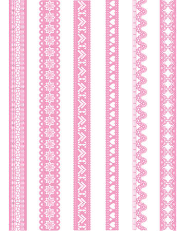 straight pink lace Vector