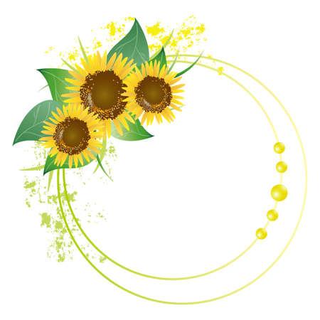 Sonnenblumen-Frame Standard-Bild - 12054542