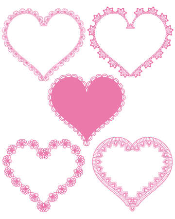 sweet heart lace Vector