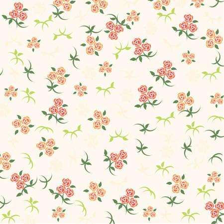 バラの背景オレンジ  イラスト・ベクター素材