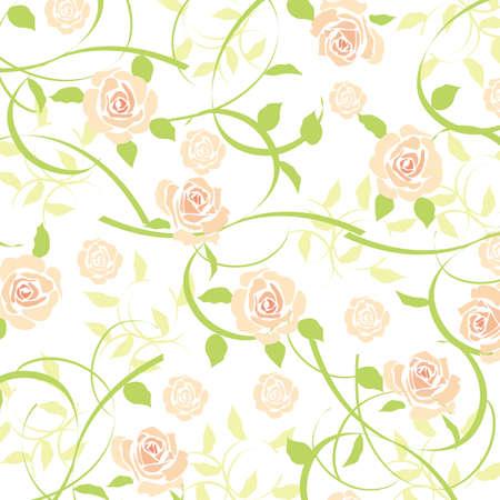 rose background orange  イラスト・ベクター素材