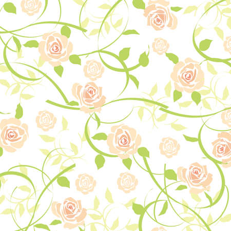 rose background orange Vectores