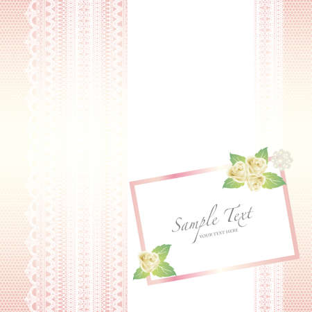 card with lace background and rose Vector