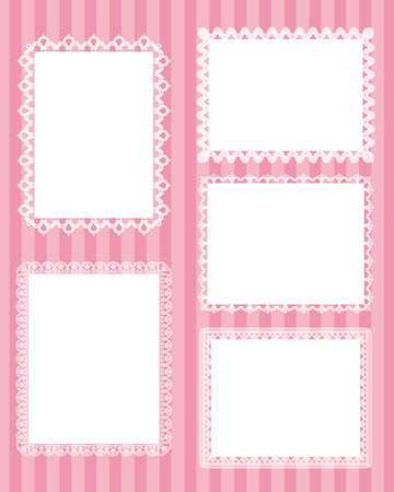 lace frame: square lace stripes background