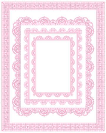 Conjunto de marco de encaje cuadrado Foto de archivo - 12055097