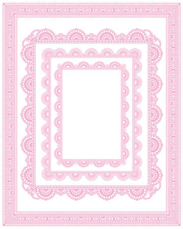 lace frame: square lace frame set Illustration