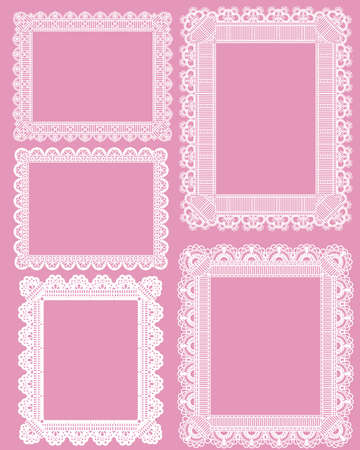 doily: square lace frame Illustration