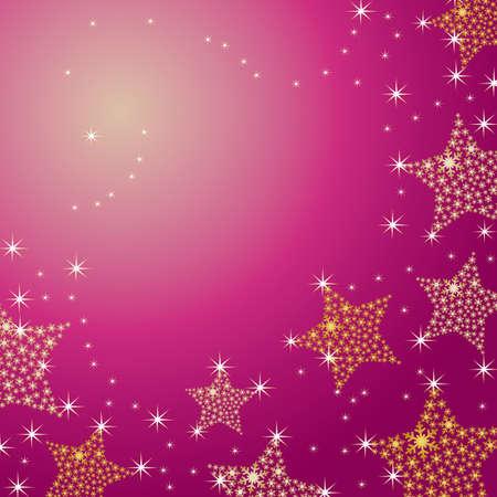 crystallization: crystal star background