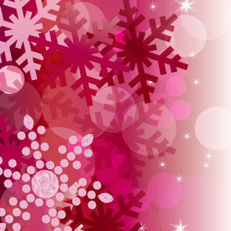 crystallization: crystal decoration background red