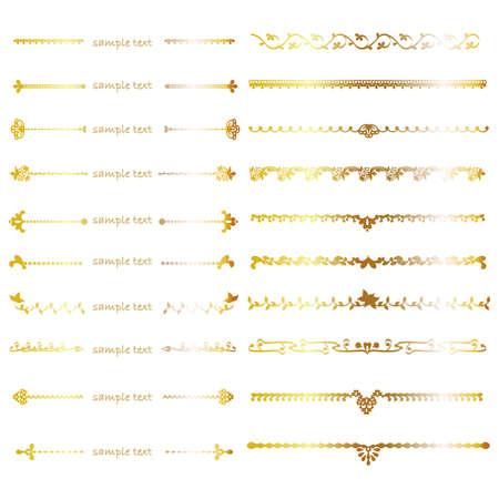 multiple image: gold line set