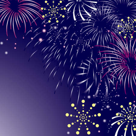 15,550 Fireworks Night Stock Vector Illustration And Royalty Free ...