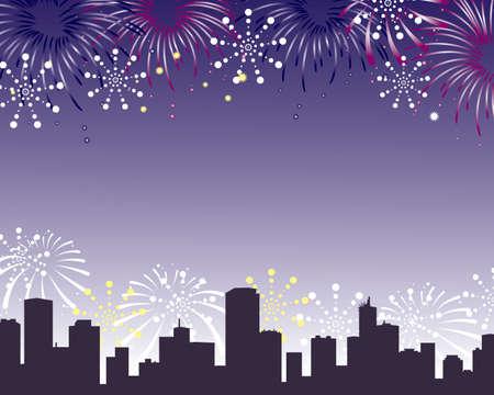 urbane: fireworks background