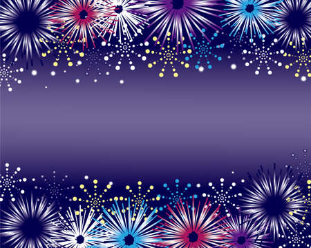 fireworks background Stock Vector - 12054515
