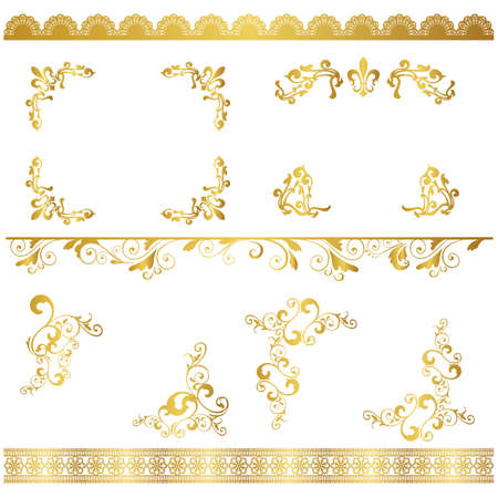 gold frame set
