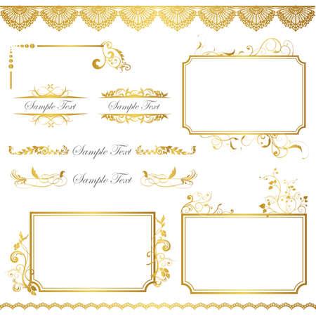 gold frame: gold frame set