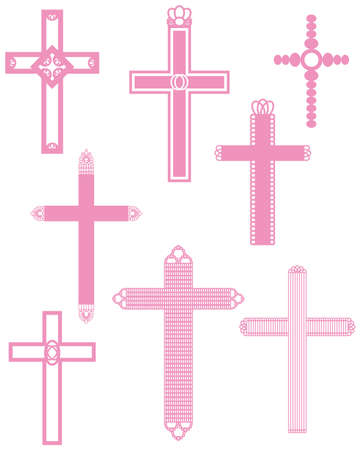 abstract cross: cross set