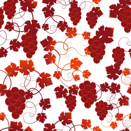 grapes seamless background Vector