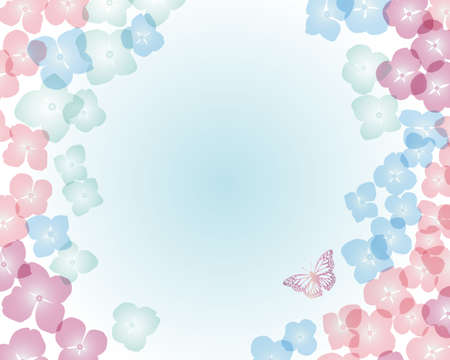 hydrangea background Vector