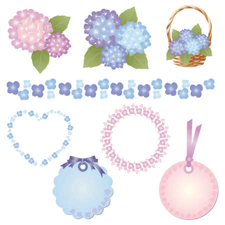 hydrangea set Stock Vector - 12482299