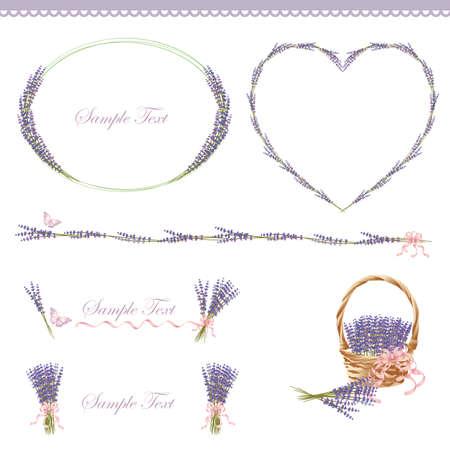 lavender frame Vector