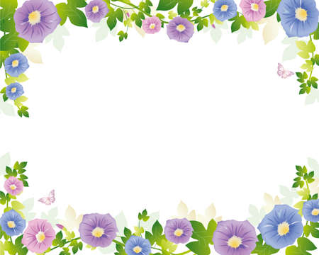 morning glory background Vector