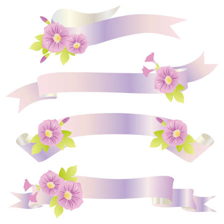 morning glory ribbon Stock Vector - 12481845