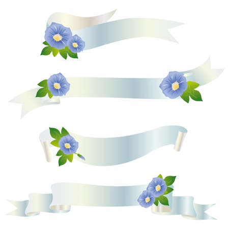 morning glory ribbon Stock Vector - 12481834