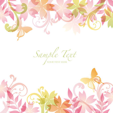 pink butterfly: spring background
