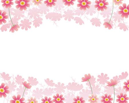 cosmos flower: cosmos background Illustration