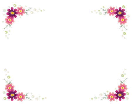 cosmos and pearl frame Stock Vector - 12482408