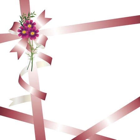 grace: ribbon background with cosmos