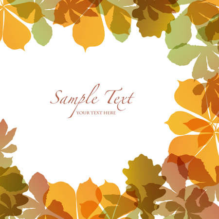 autumn background with colored leaves Vector