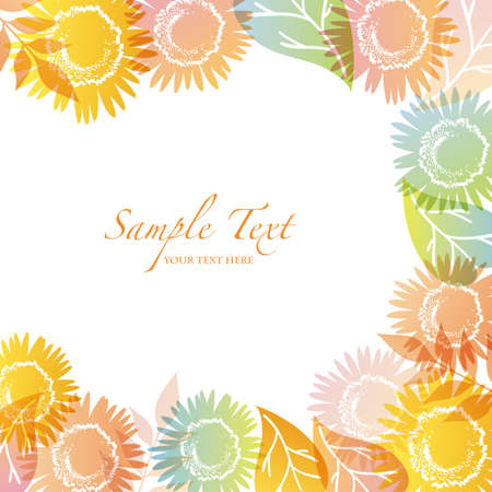summer background with sunflower Vector